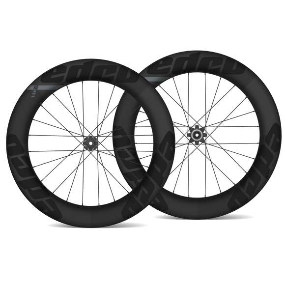 EDCO Carbon Clincher SIX-4 Front & EIGHT-2 Rear Wheelset - 64mm/82mm