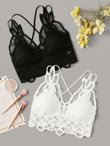Women 2pack Contrast Lace Bra Set