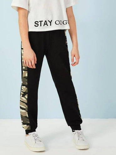 Boys Camo Panel Sweat Pants