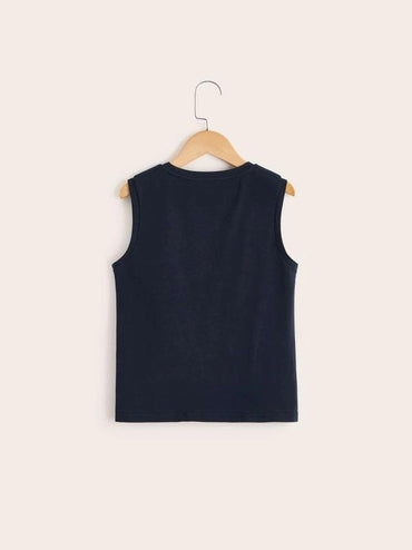 Boys Colorblock Embroidered Tank Tee