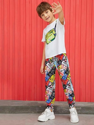 Boys Colorblock Windbreaker Pants