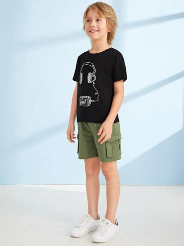 Boys Graphic Print Top