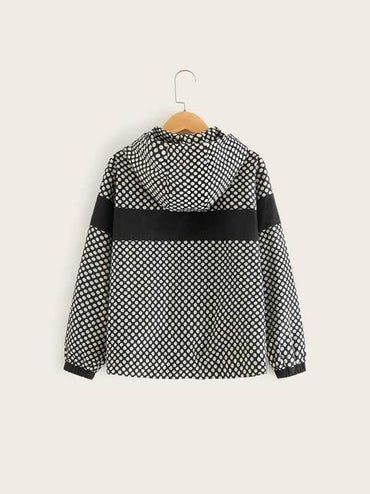Boys Polka Dot Windbreaker Jacket