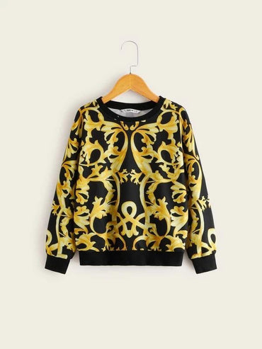 Boys Scroll Print Pullover