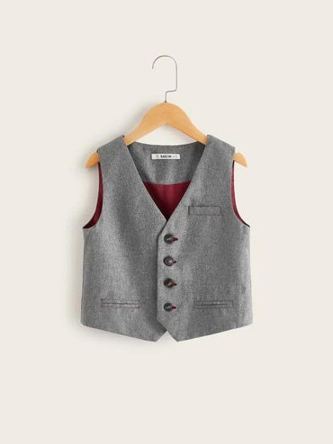Boys Single Breasted Vest