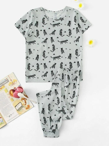 Boys Animal Print Pajama Set