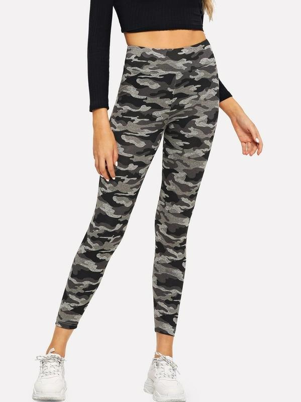 Women Camo Print Leggings