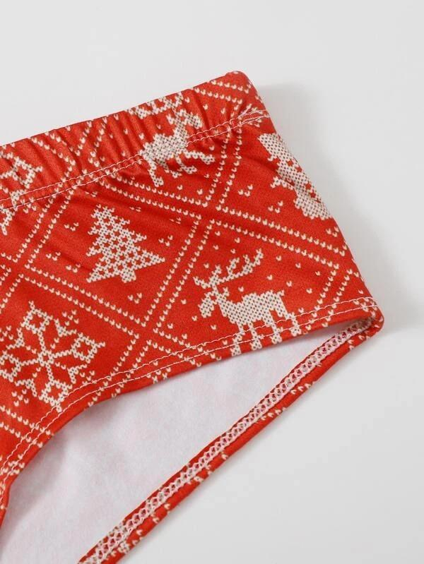 Women Christmas Allover Graphic Panty