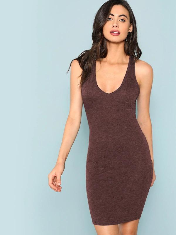Women Crisscross Back Bodycon Dress