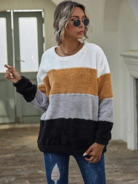 Women Cut And Sew Teddy Sweatshirt