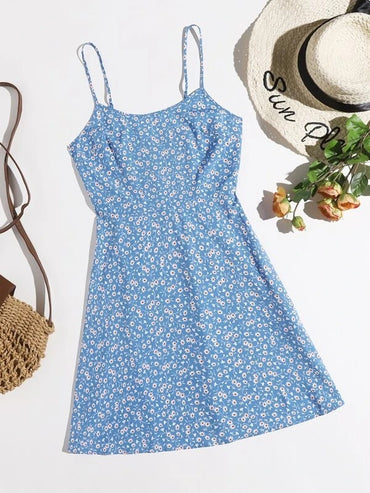 Women Ditsy Floral Cami Dress