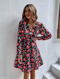 Women Empire Waist Allover Floral Dress
