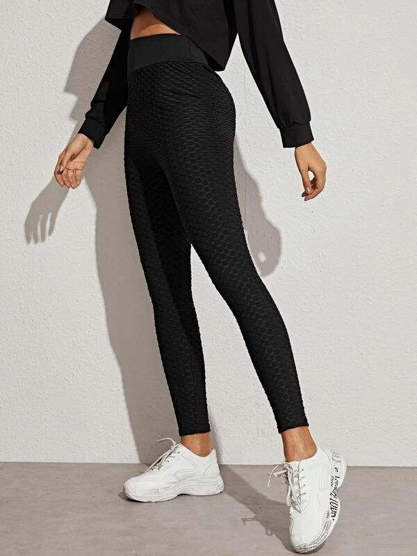 Women Fish Scale Elastic Waist Leggings