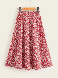 Girls Ditsy Floral Print Skirt