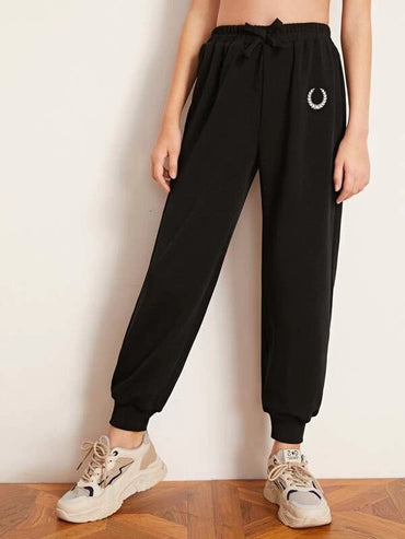 Girls Embroidered Detail Joggers