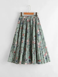 Girls Floral Print Accordion Pleated Skirt