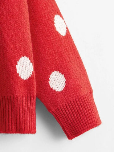 Girls Polka Dot Button Through Cardigan
