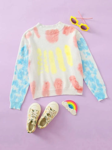Girls Tie Dye Sweater