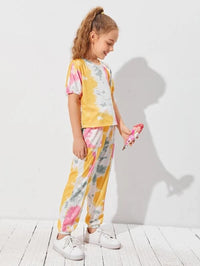 Girls Tie Dye Top & Pants Set