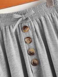 Girls Tie Waist Button Fly Jersey Skirt