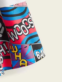 Girls Wide Band Waist Pop Art Print Skirt
