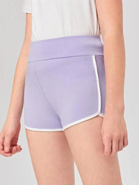 Girls Wide Waistband Dolphin Shorts