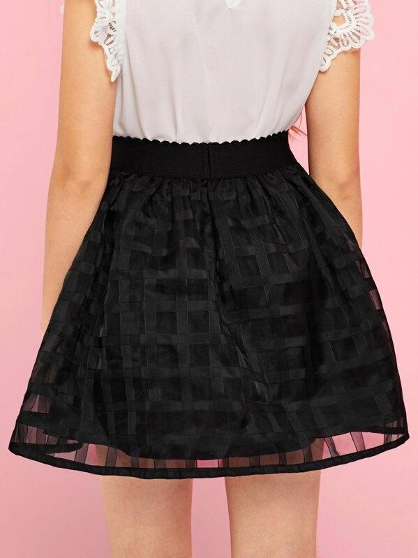 Girls A-Line Mesh Skirt