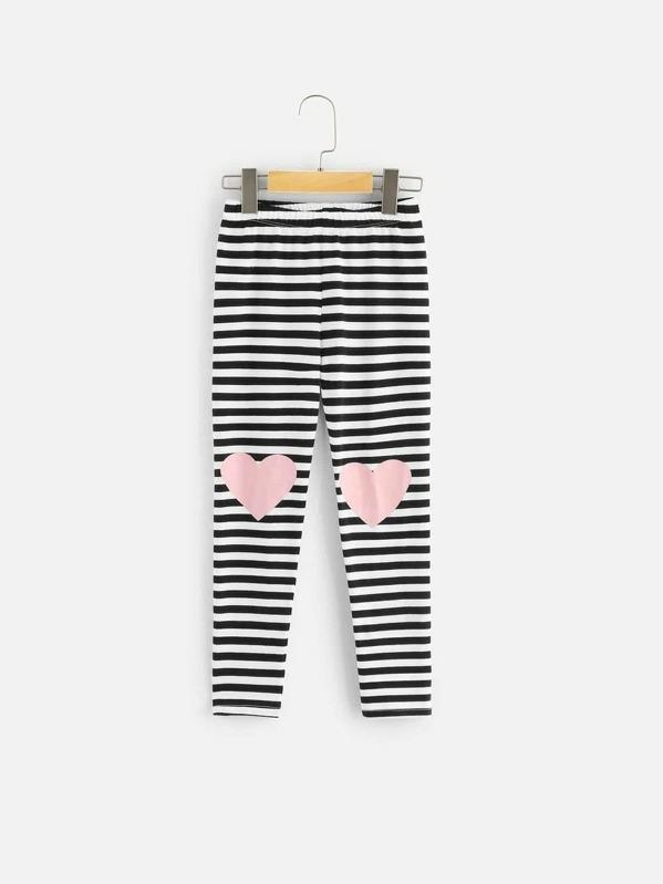 Girls Animal Print Top & Striped Pants Set