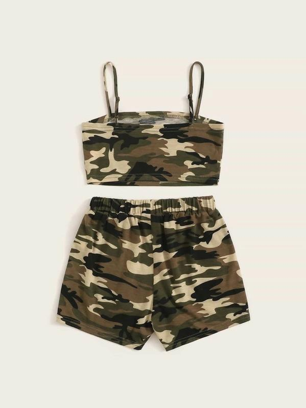 Girls Cami Print Cami Top & Shorts Set