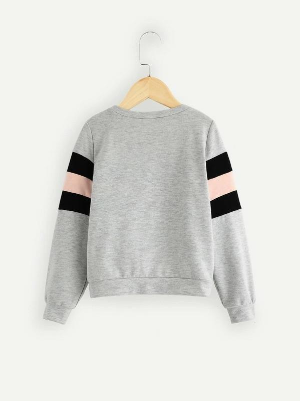 Girls Color Block Pullover