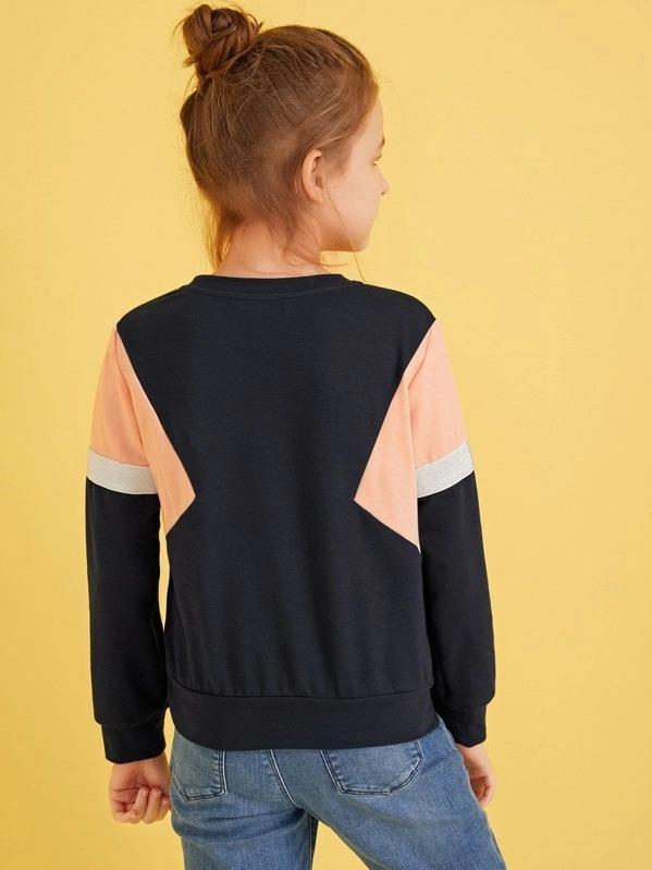 Girls Colorblock Pullover