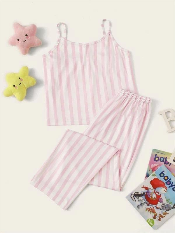 Girls Striped Cami PJ Set