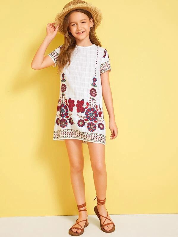 Girls Tribal Print Dress