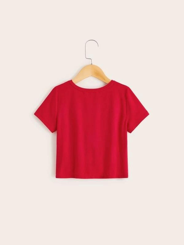 Girls Twist Hem Tee