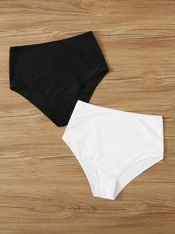 Women High Waist Swimming Panty Set 2pack