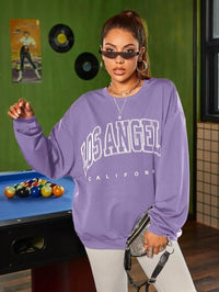 Women Letter Graphic Drop Shoulder Sweatshirt