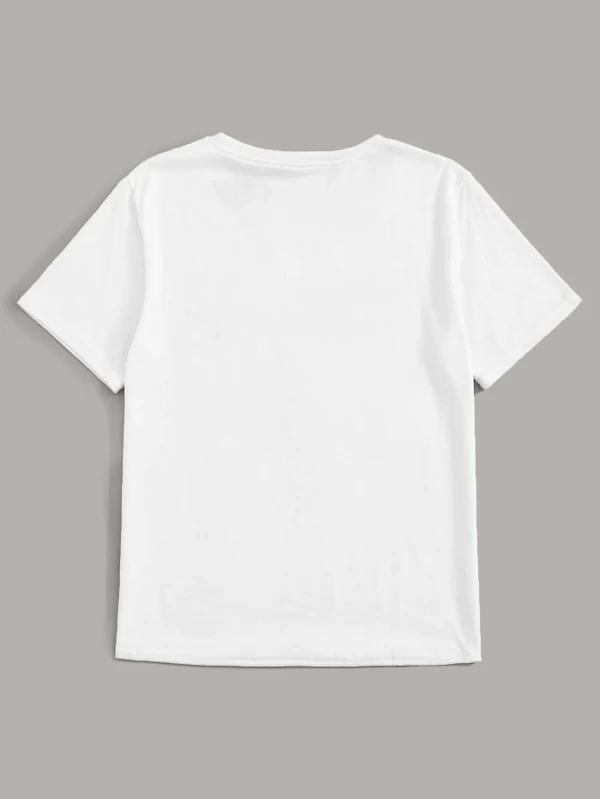 Women Letter Graphic Short Sleeve Tee