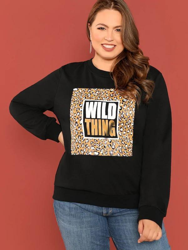 Women Plus Graphic Sweatshirt