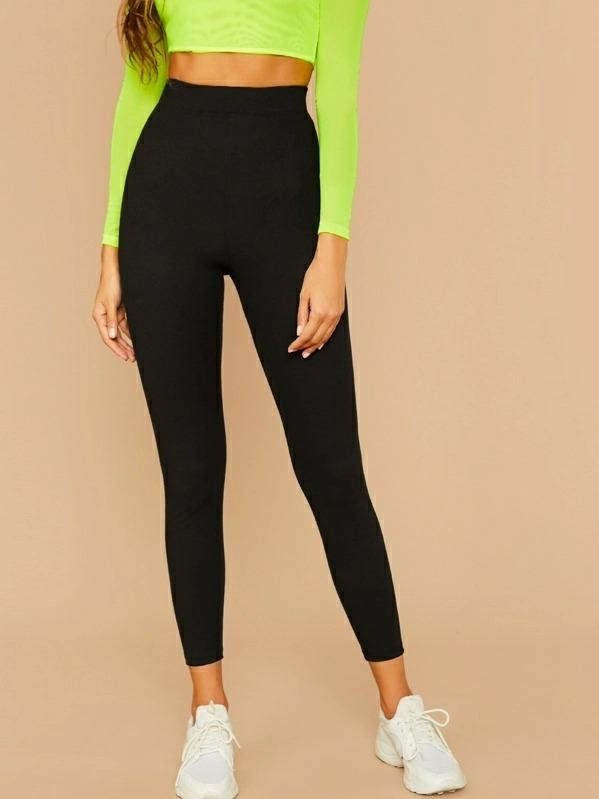 Women Rib-knit Skinny Leggings