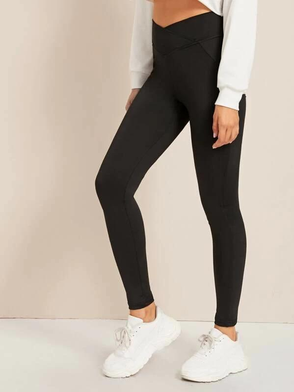 Women Solid High Rise Skinny Leggings