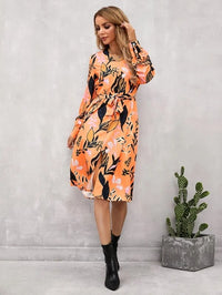 Women Split Front Self Tie Floral Dress