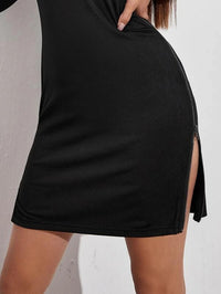 Women Split Side Bodycon Dress