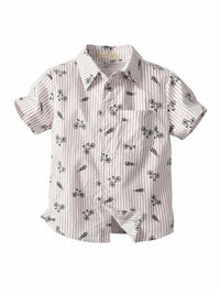 Toddler Boys Bicycle Print Shirt