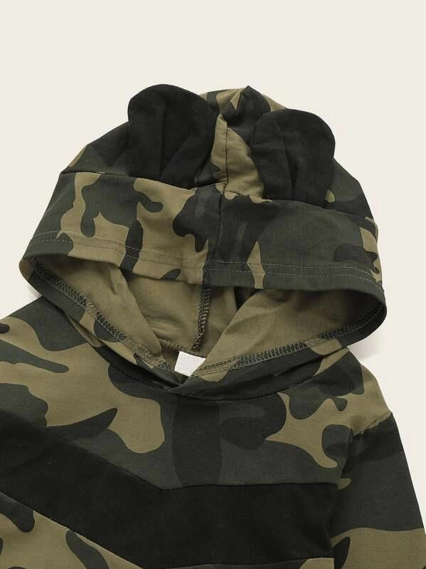 Toddler Boys Camo Print Hoodie & Sweatpants