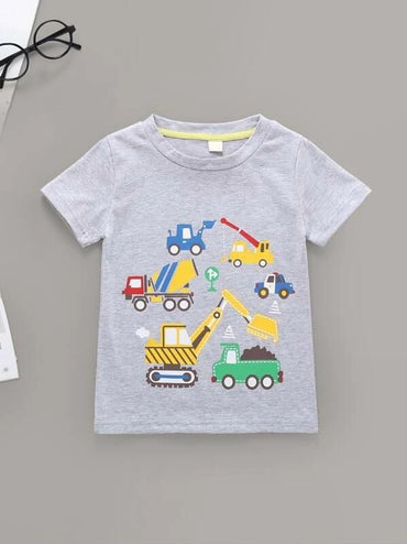 Toddler Boys Car Graphic Tee