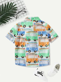 Toddler Boys Car Print Shirt