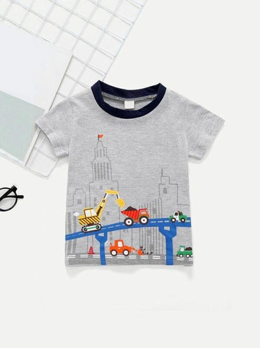 Toddler Boys Car Print Tee