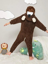 Toddler Boys Cartoon Plush Onesie