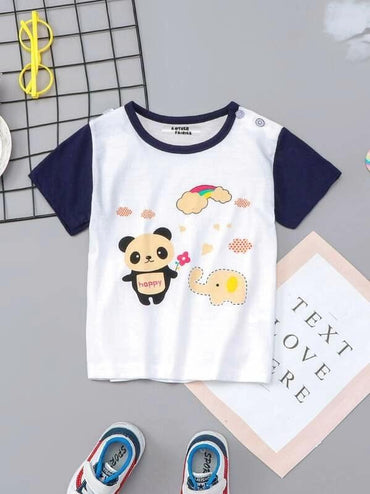 Toddler Boys Cartoon Print Tee