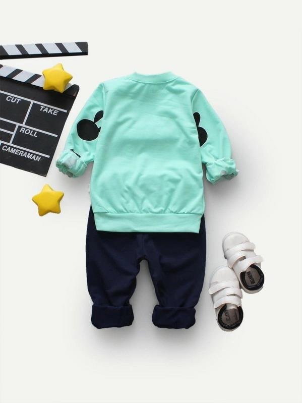 Toddler Boys Cartoon Pullover With Pants